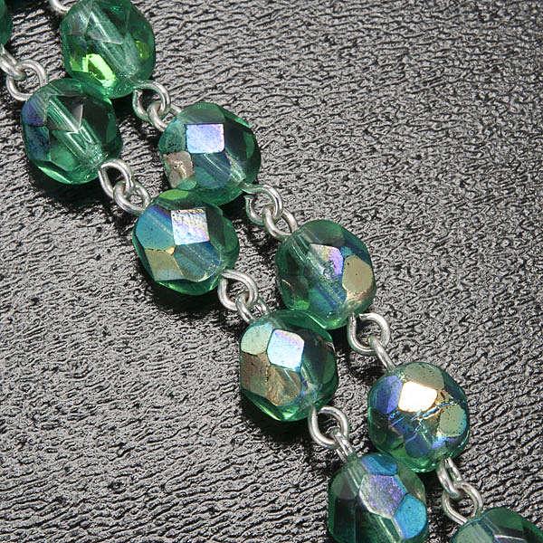 Ghirelli emerald rosary Lourdes Grotto 6mm 4