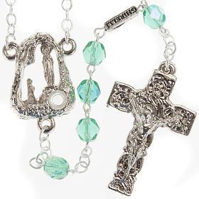 Ghirelli emerald rosary Lourdes Grotto 6mm s1