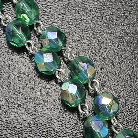 Ghirelli emerald rosary Lourdes Grotto 6mm s5