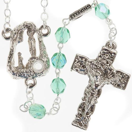 Ghirelli emerald rosary Lourdes Grotto 6mm 1