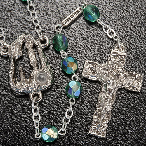 Ghirelli emerald rosary Lourdes Grotto 6mm 2