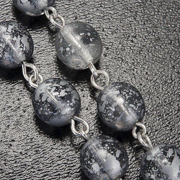 Rosario Ghirelli vetro grigio smaltato Grotta Lourdes 8 mm 4