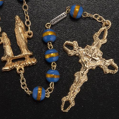 Rosario Ghirelli grotta Lourdes blu giallo 7 mm 2