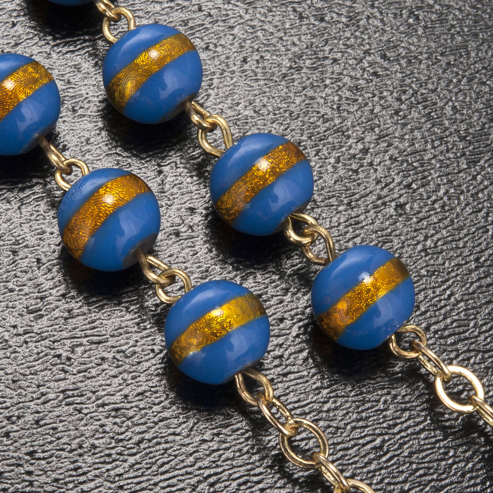 Ghirelli rosary Lourdes Grotto, blue-yellow 7mm 4
