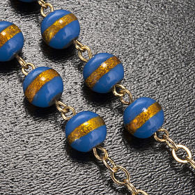 Ghirelli rosary Lourdes Grotto, blue-yellow 7mm s5
