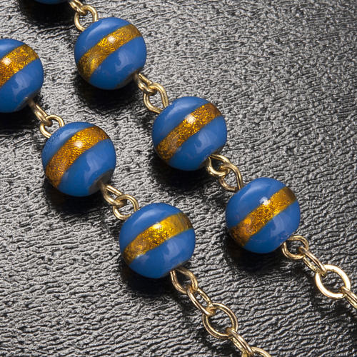 Ghirelli rosary Lourdes Grotto, blue-yellow 7mm 5
