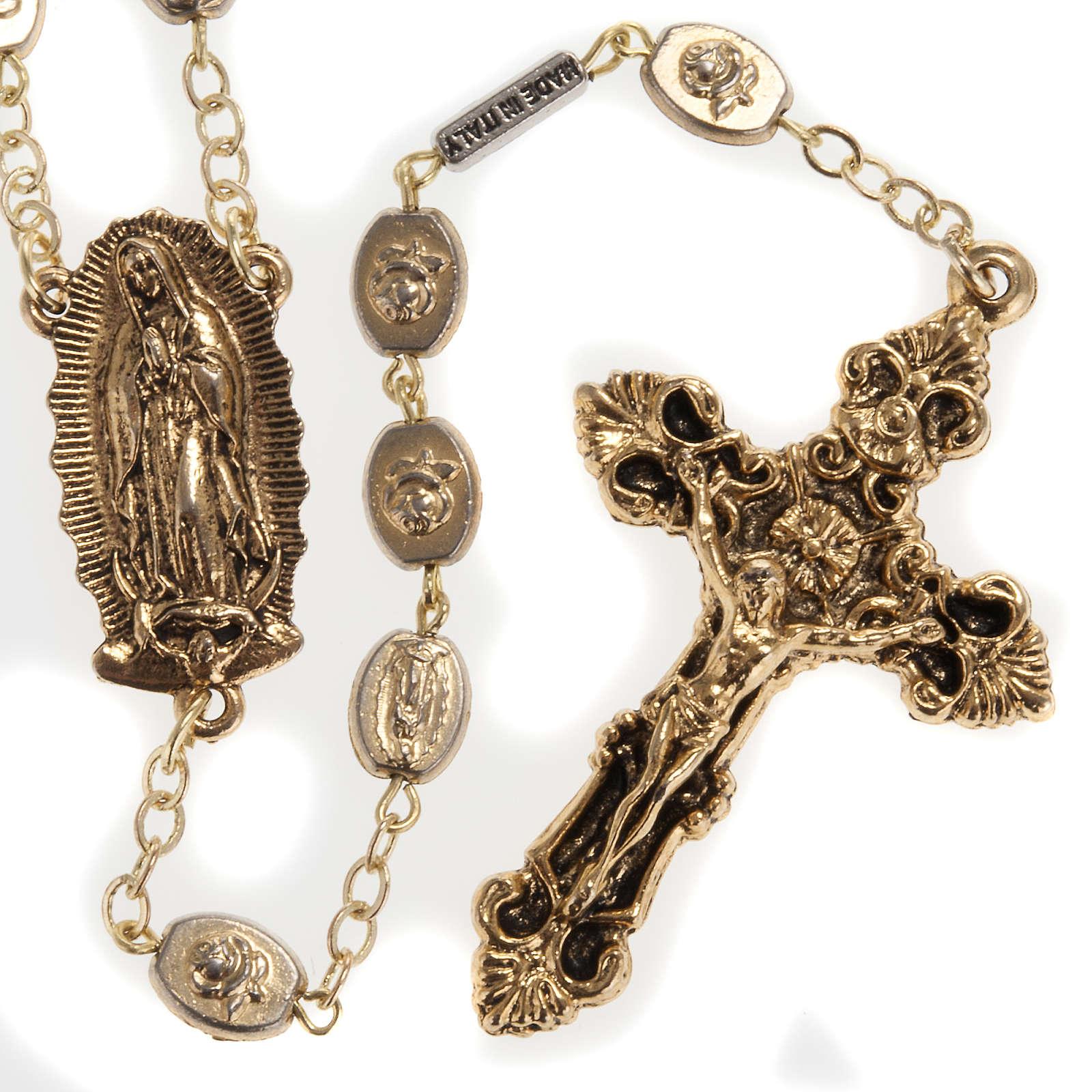 Rosario Ghirelli dorato Nostra Signora di Guadalupe 9 mm 4