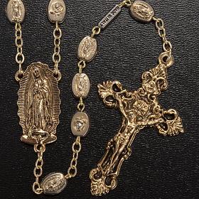 Rosario Ghirelli dorato Nostra Signora di Guadalupe 9 mm s2
