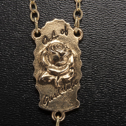 Rosario Ghirelli dorato Nostra Signora di Guadalupe 9 mm 6