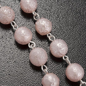 Ghirelli pink rosary Lourdes Grotto, opaque glass 7mm s5
