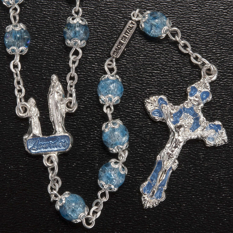 Rosario Ghirelli grotta di Lourdes vetro crepato azzurro 4