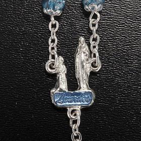 Rosario Ghirelli grotta di Lourdes vetro crepato azzurro s3