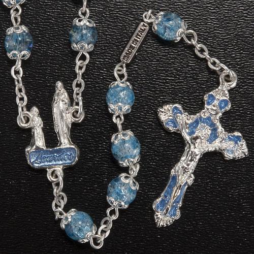 Rosario Ghirelli grotta di Lourdes vetro crepato azzurro 2