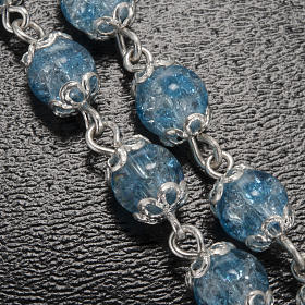Ghirelli light blue rosary Lourdes Grotto, glass s5