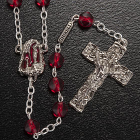 Ghirelli rosary Holy Lourdes Grotto, red s2
