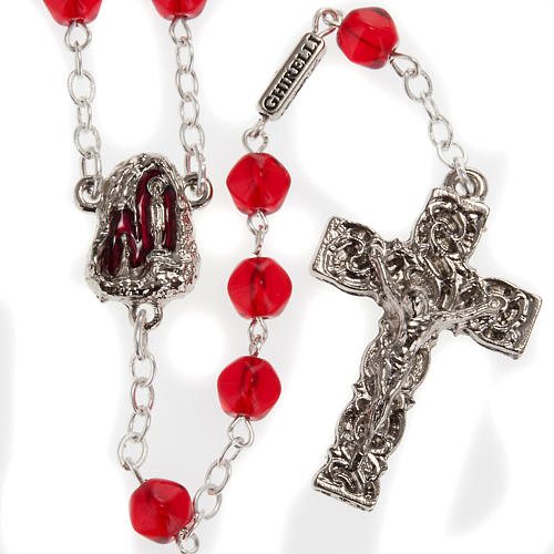 Ghirelli rosary Holy Lourdes Grotto, red 1