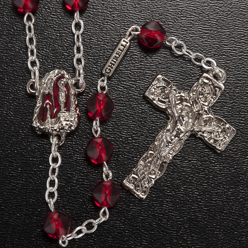 Ghirelli rosary Holy Lourdes Grotto, red 2
