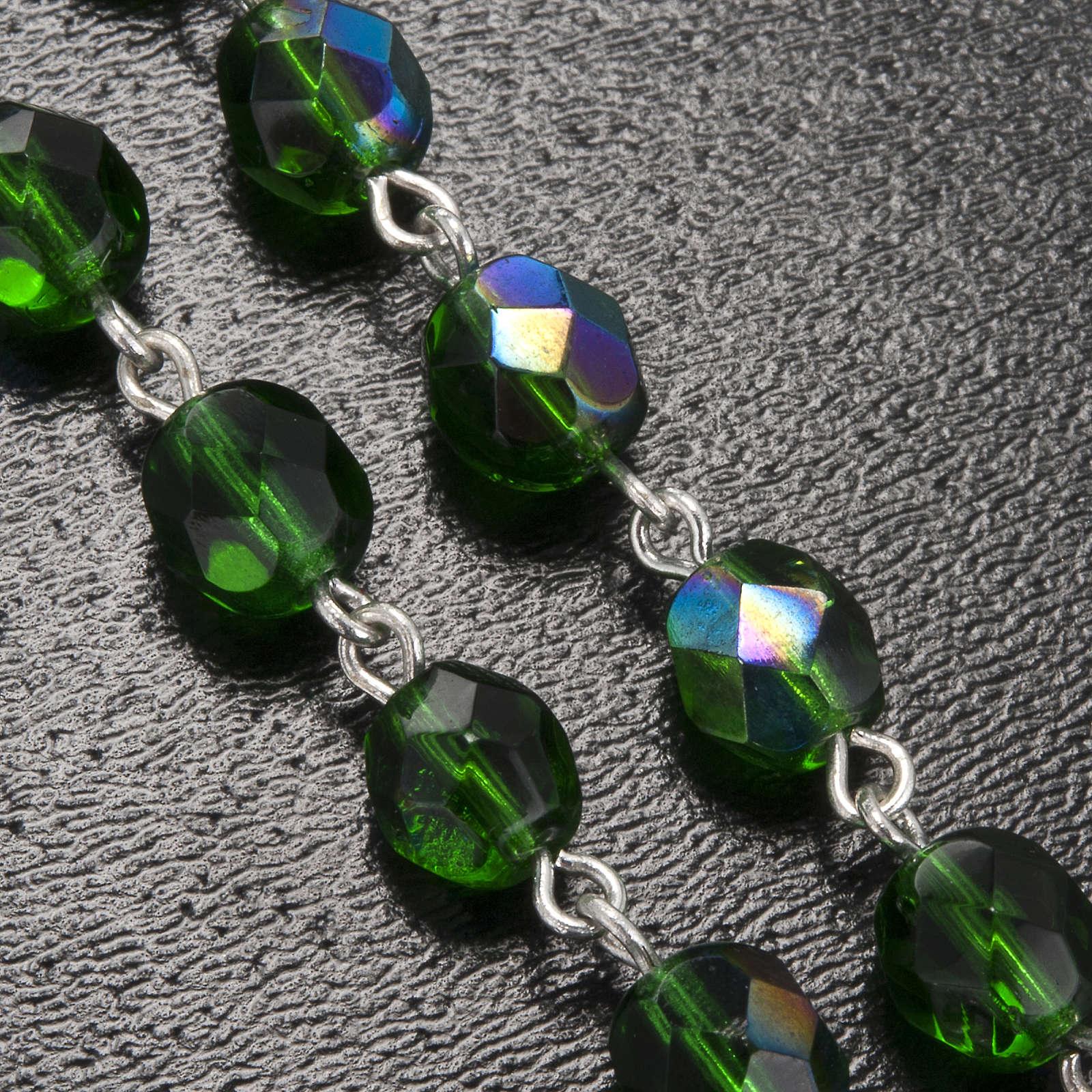 Rosario Ghirelli madonna lourdes tondo verde 7 mm 4