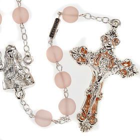 Rosario Ghirelli vetro cerato rosa Madonna Lourdes 8 mm s1