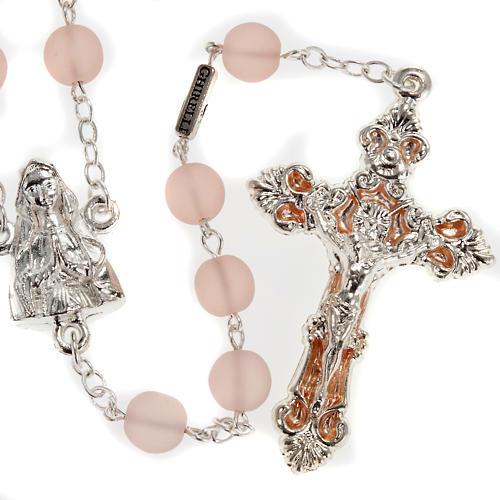 Rosario Ghirelli vetro cerato rosa Madonna Lourdes 8 mm 1