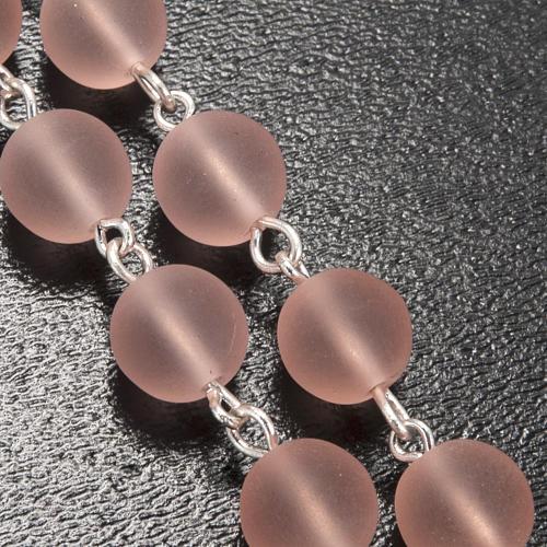 Rosario Ghirelli vetro cerato rosa Madonna Lourdes 8 mm 5
