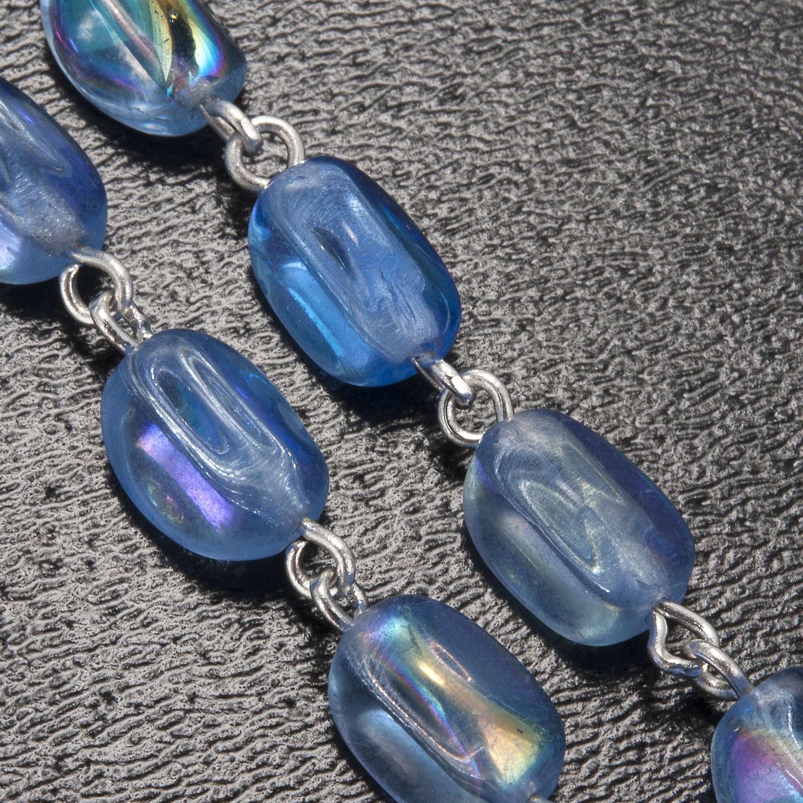 Rosario Ghirelli Lourdes vetro ovale azzurro 4