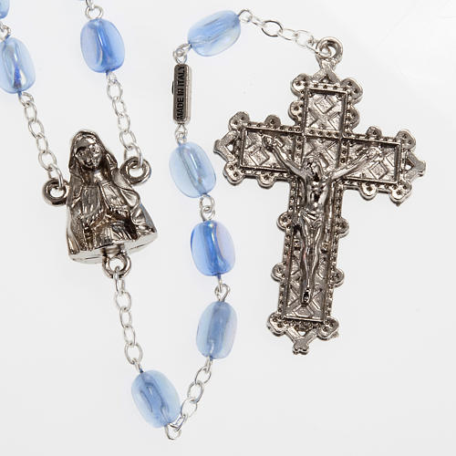 Ghirelli rosary Lourdes, light blue glass 1