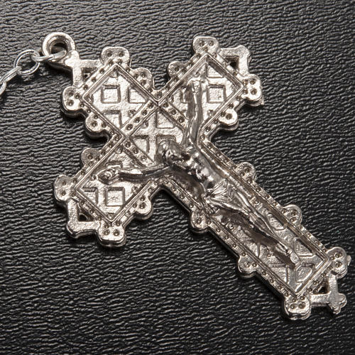 Ghirelli rosary Lourdes, light blue glass 4