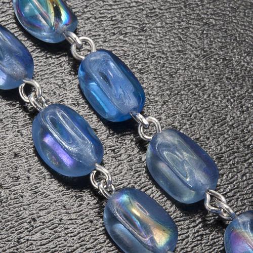 Ghirelli rosary Lourdes, light blue glass 5