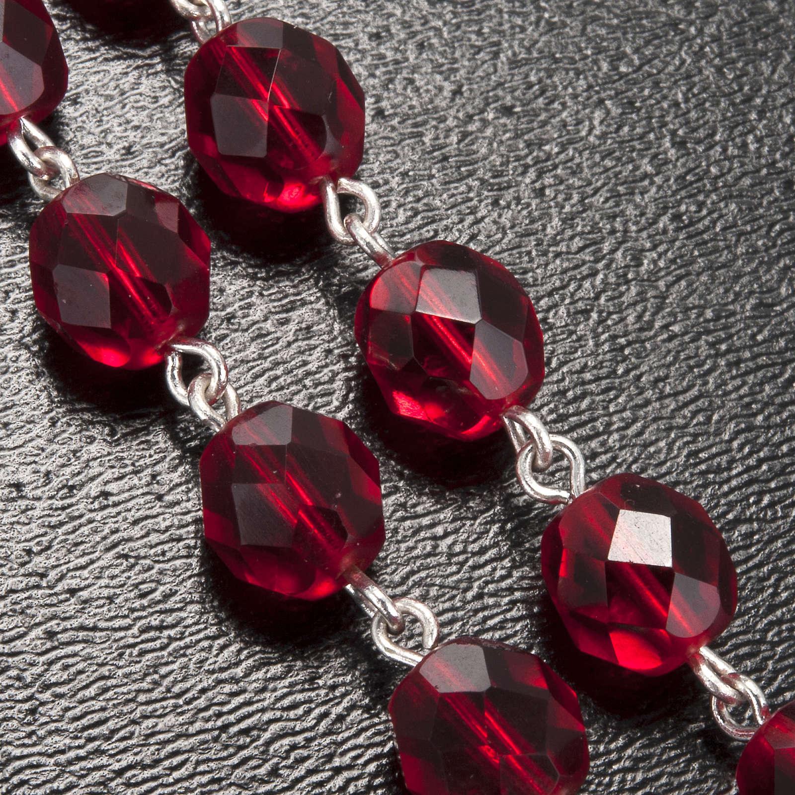 Rosario Ghirelli grotta Lourdes vetro rosso rubino 4