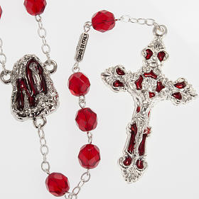 Rosario Ghirelli grotta Lourdes vetro rosso rubino s1