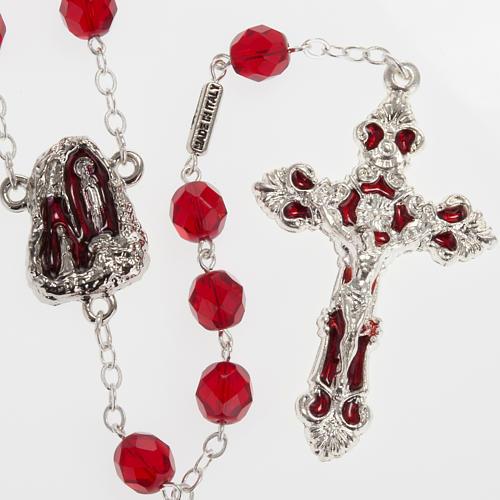 Rosario Ghirelli grotta Lourdes vetro rosso rubino 1