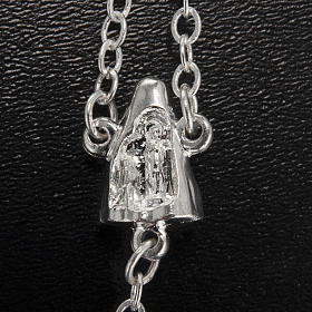 Ghirelli rosary Lourdes, black shiny glass s4