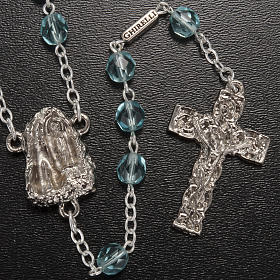Ghirelli rosary Holy Lourdes Grotto, light blue s2