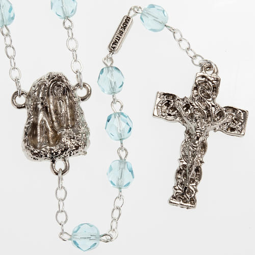 Ghirelli rosary Holy Lourdes Grotto, light blue 1