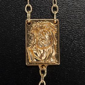 Rosario Ghirelli oro verde Cristo e Madonna con bimbo 6 mm s3