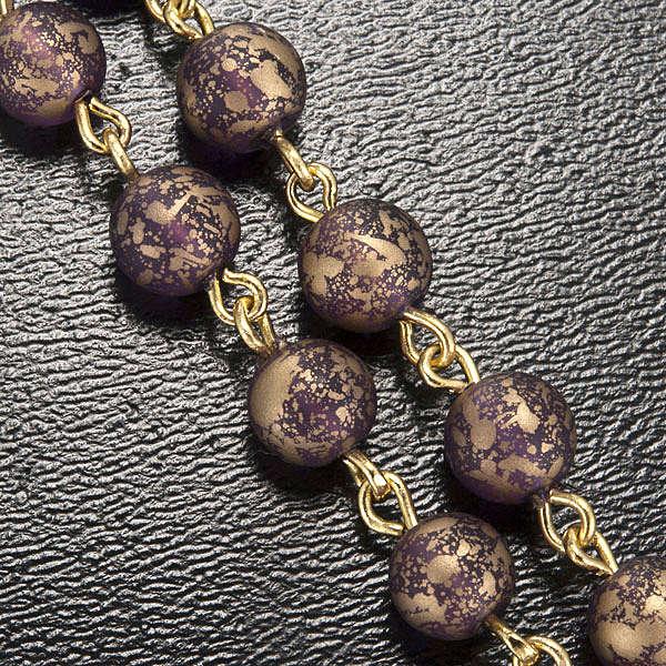 Rosario Ghirelli oro viola Grotta di Lourdes 6 mm 4