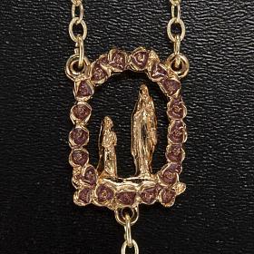 Rosario Ghirelli oro viola Grotta di Lourdes 6 mm s3