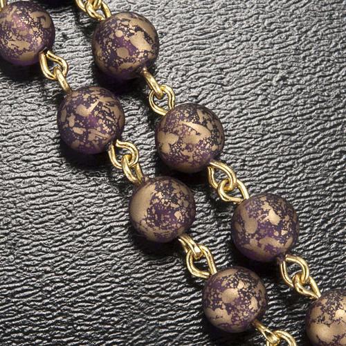 Rosario Ghirelli oro viola Grotta di Lourdes 6 mm 5