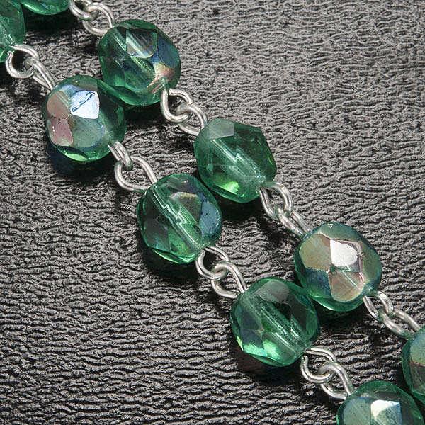 Rosario Ghirelli verde acqua crociera scatolina 6 mm 4