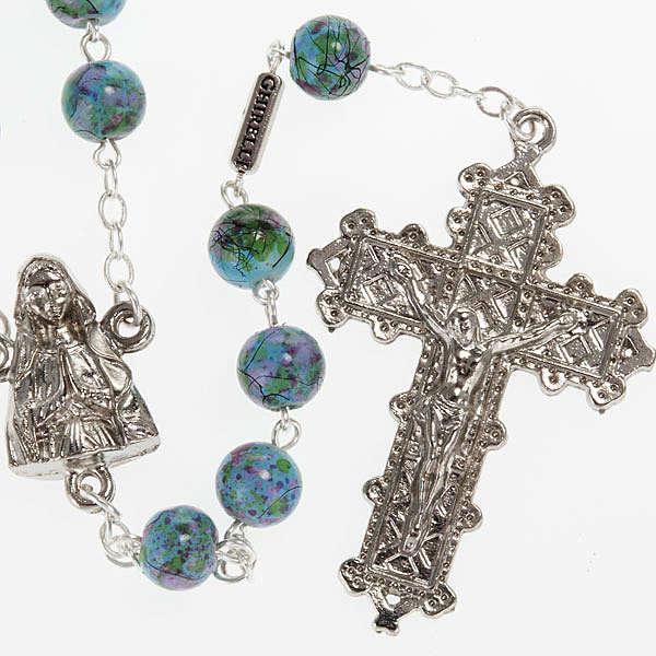 Chapelet Ghirelli Notre-Dame Lourdes vert fantaisie 6 mm 4