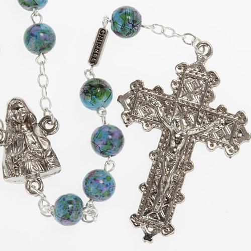Chapelet Ghirelli Notre-Dame Lourdes vert fantaisie 6 mm 1