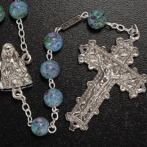 Chapelet Ghirelli Notre-Dame Lourdes vert fantaisie 6 mm 2