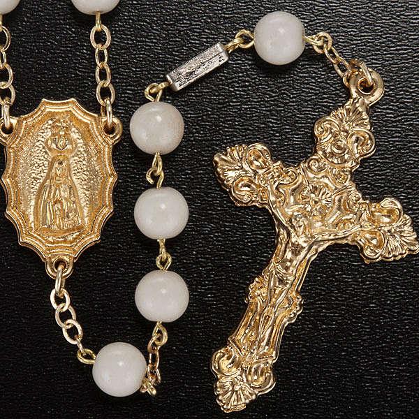 Rosario Ghirelli vetro bianco Madonna Fatima 8 mm 4