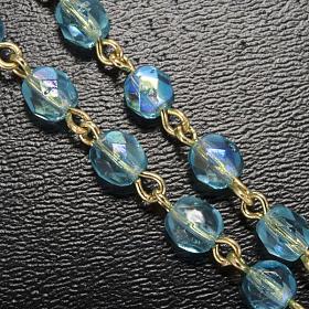 Chapelet Ghirelli perles verre bleu ciel Fatima 5 mm s5