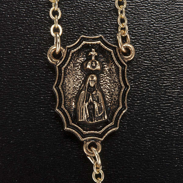 Rosario Ghirelli vetro turchese Fatima e rose 6 mm 4