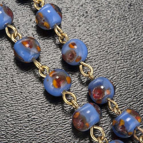 Rosario Ghirelli vetro viola arancio grotta Lourdes 6 mm 5
