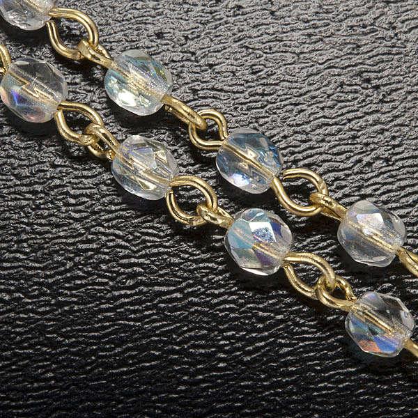 Chapelet Ghirelli cristal Grotte de Lourdes ambre 4 mm 4
