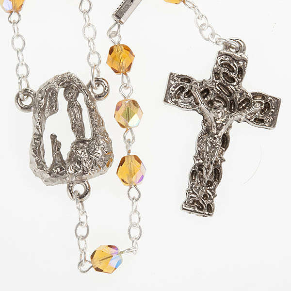 Ghirelli rosary, amber, Lourdes grotto 6mm 4