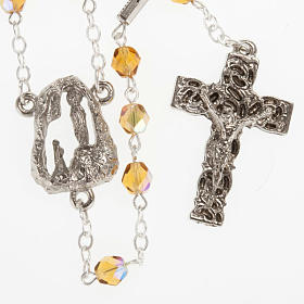 Ghirelli rosary, amber, Lourdes grotto 6mm s1